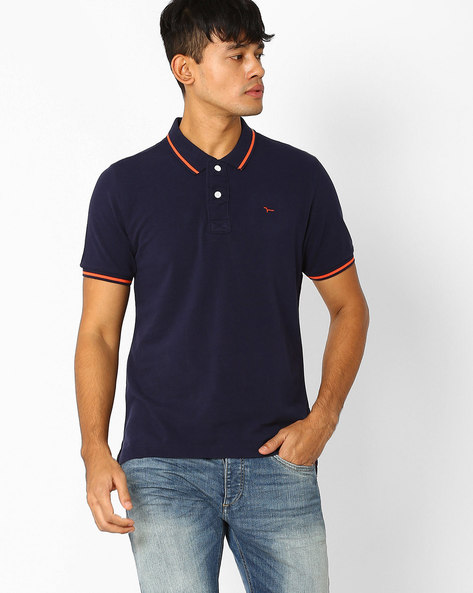 Slim Fit Polo T-shirt By FLYING MACHINE ( Assorted ) - 440720331001