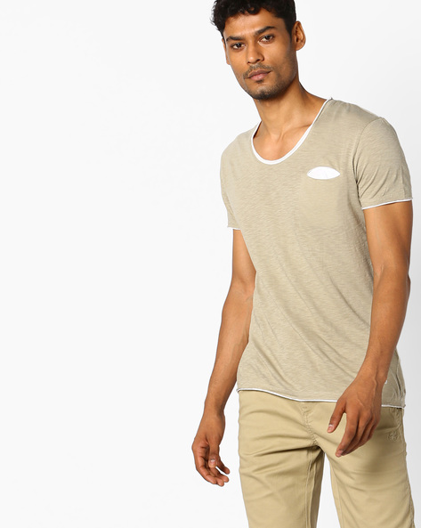 Slim Fit Crew-Neck T-shirt By GAS ( 0465 )