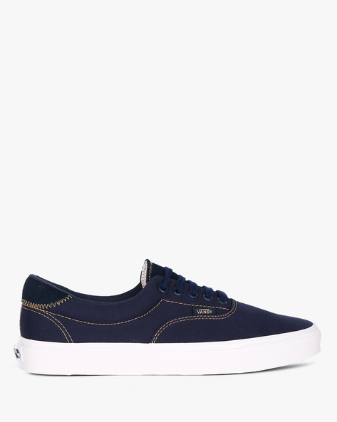 Casual Shoes With Lace-Ups By Vans ( Blue )