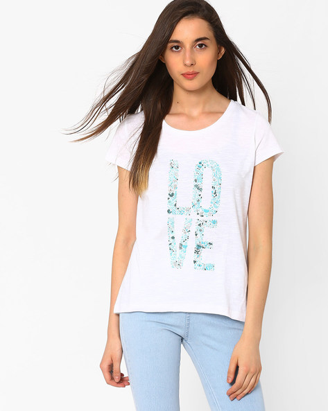 Printed T-shirt By CHM ( Blue )