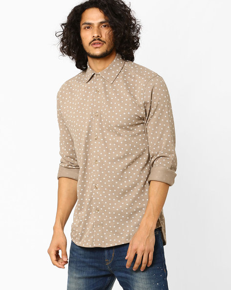 Slim Fit Knitted Shirt By Jack & Jones ( Grey )