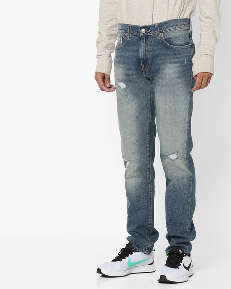 511 Slim Fit Distressed Jeans By LEVIS ( Blue ) - 460098203002