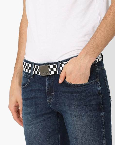 Checked Belt With Buckle By Vans ( Blackwhite )