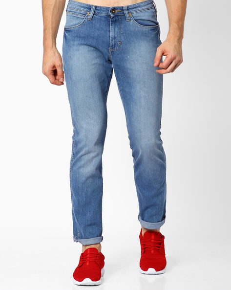 Millard Lightly-Washed Slim Fit Jeans By WRANGLER ( Blue )