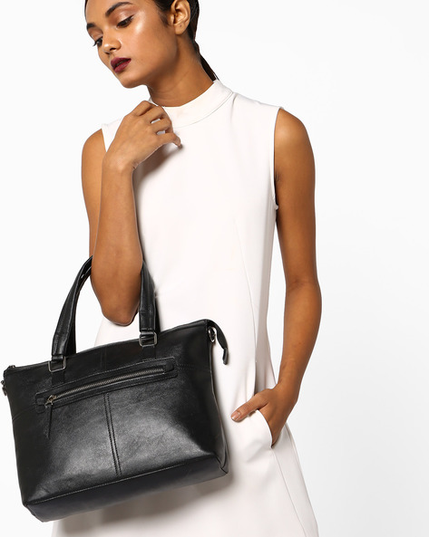 Minimal Textured Shoulder Bag By Toteteca ( Black )