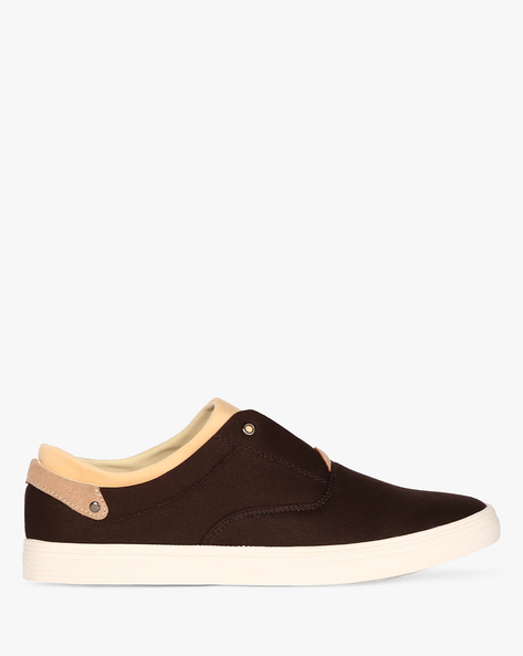Slip-On Sneakers With Extended Tongue By Nuboy ( Brown )