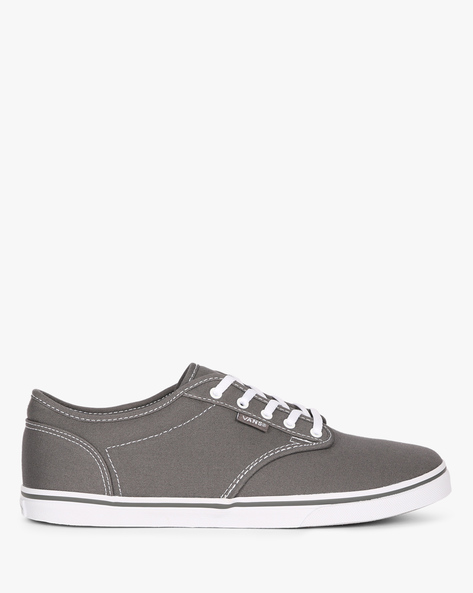 Lace-Up Casual Shoes By Vans ( Grey )