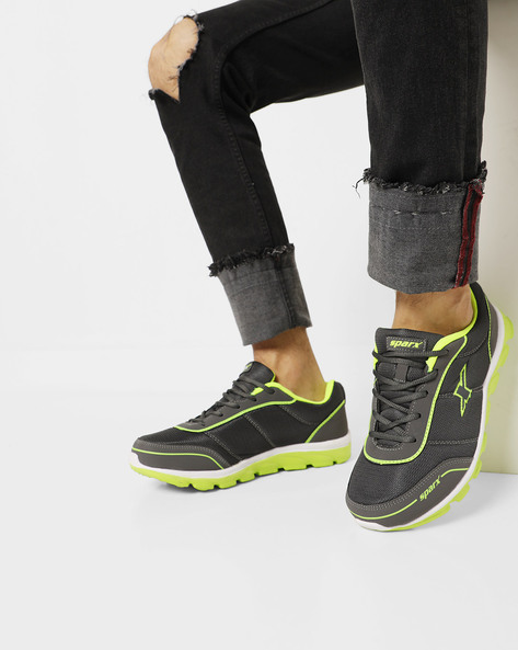 Sports Shoes With Padded Heel Collar By SPARX ( Darkgrey )