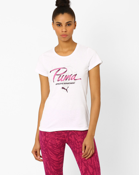 Graphic Print T-shirt By Puma ( White )