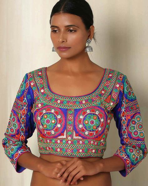 Kutch Embroidered Blouse By The Blouse Factory ( Multi )