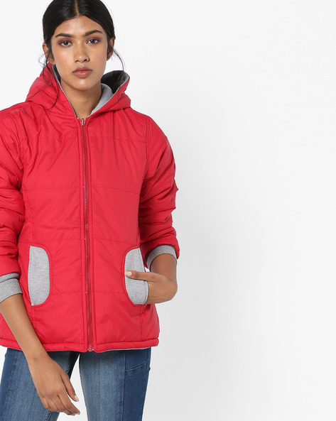 Quilted Reversible Jacket By Teamspirit ( Red )
