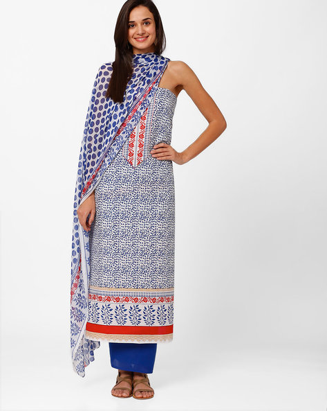 Printed Cotton Dress Material By Hhara ( Multi )