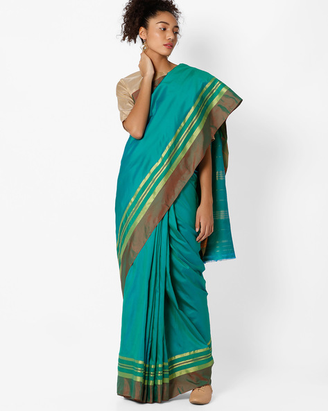Mysore Polycotton Saree By Amori ( Green )