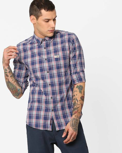 Checked Slim Fit Shirt By US POLO ( Assorted )
