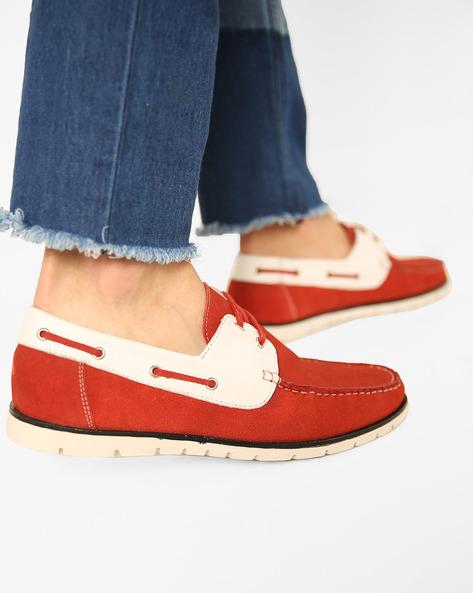 Slip-On N9-Treated Boat Shoes By AJIO ( Bordo )