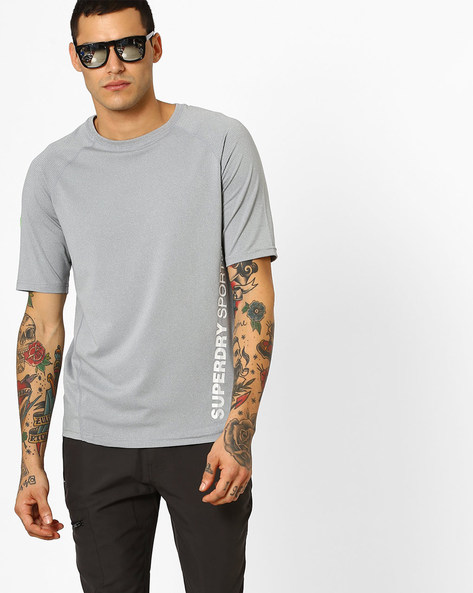 Textured Crew-Neck T-shirt By SUPERDRY ( 41q )