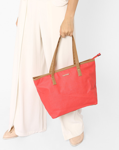 Textured Handbag By Daphne ( Pink )