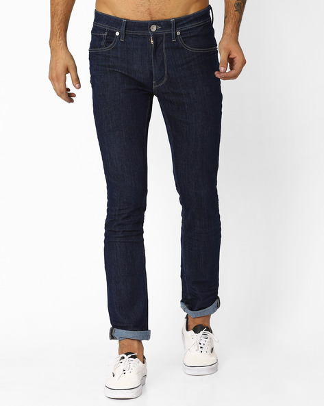 Low-Rise Slim Jeans By VOI JEANS ( Darkblue )