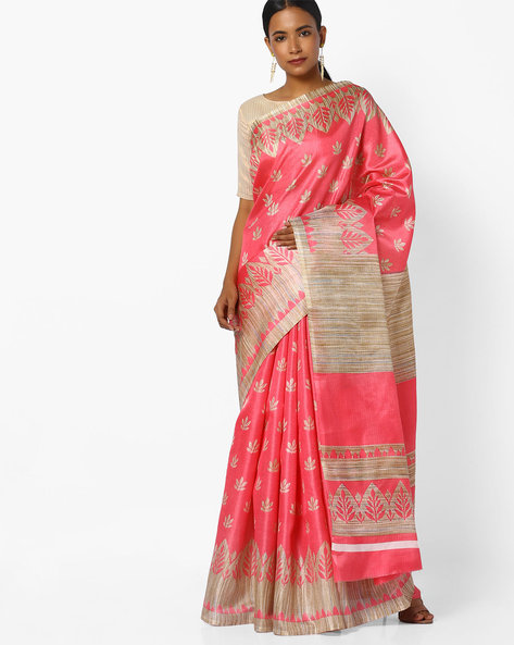 Floral Print Saree By CHHABRA 555 ( Peach )