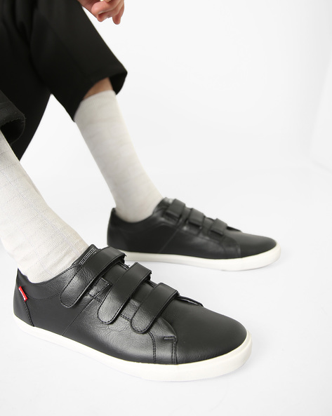 Casual Shoes With Velcro Closures By LEVIS ( Black )