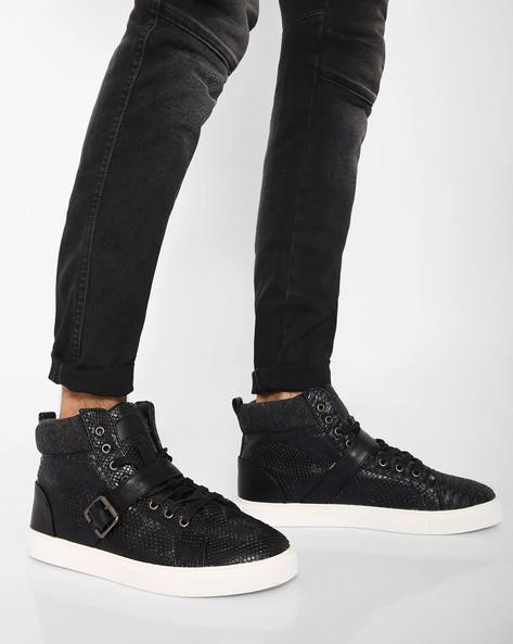 Mid-Top N9-Treated Sneakers By AJIO ( Black ) - 460021834004