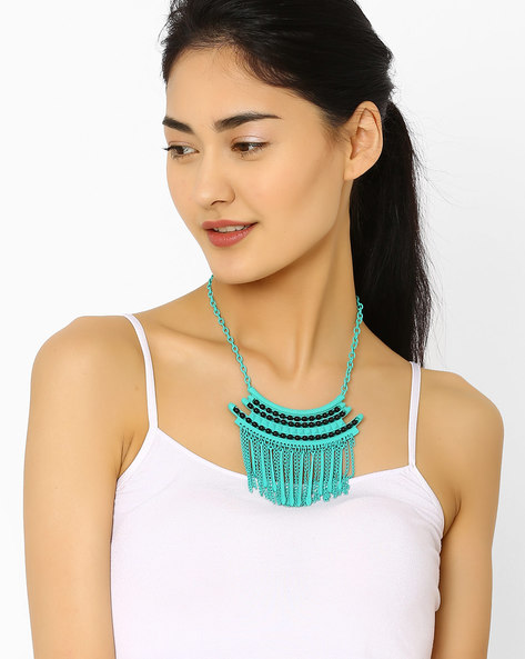 Beaded Necklace By AJIO ( Green )