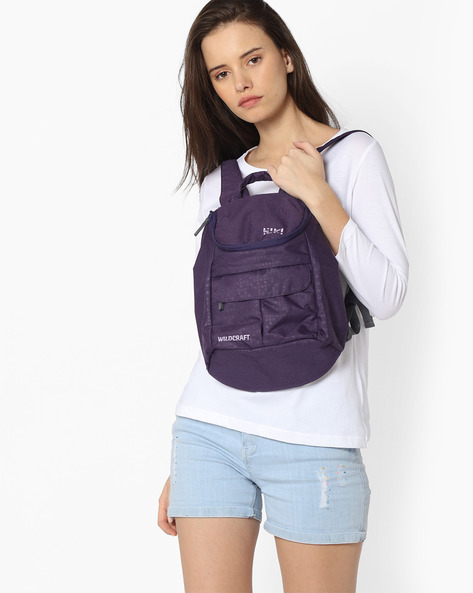 Backpack With Adjustable Straps By Wildcraft ( Purple )
