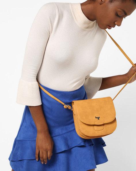 Textured Sling Bag By BAGGIT ( Mango )