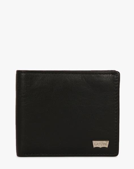 Bi-Fold Faux-Leather Wallet By LEVIS ( Black )