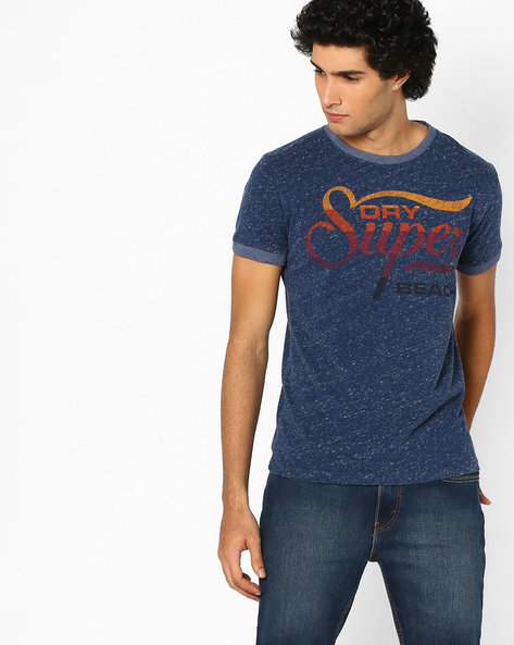 Graphic Print Crew-Neck T-shirt By SUPERDRY ( Ag5 )