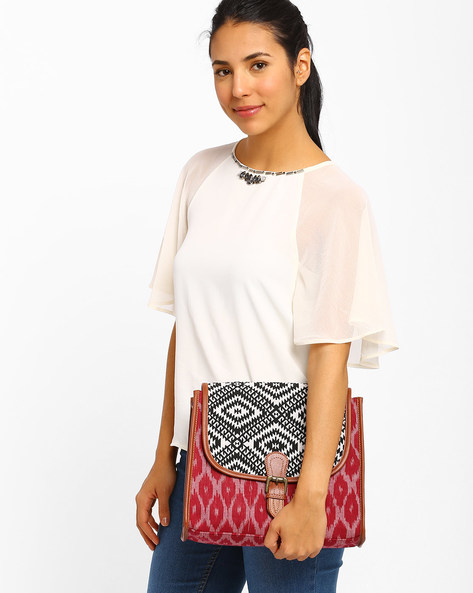 Ikat Sling Bag By AJIO ( Pink )