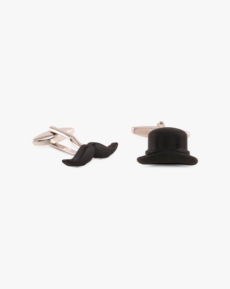Set Of 2 Cufflinks By Eristona Man ( Black )