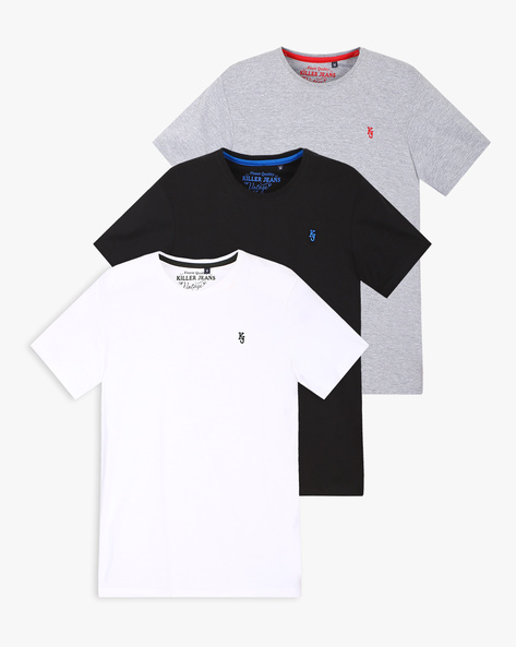 Pack Of 3 Slim Fit T-shirts By Killer ( Multi )