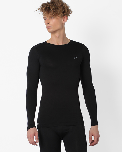 Performance Fit Seamless T-shirt By PROLINE ( Black )