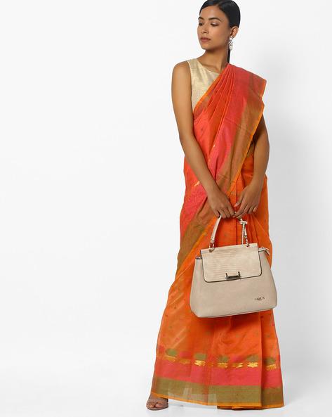 Saree With Colourblock Border By CHHABRA 555 ( Pink )