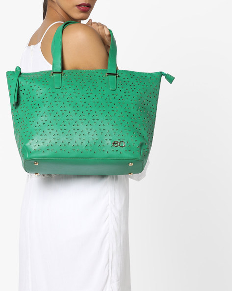 Laser-Cut Tote Bag By E2O ( Green )