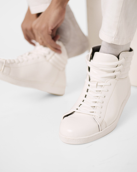 High-Top Lace-Up Shoes By Bond Street By Red Tape ( White )