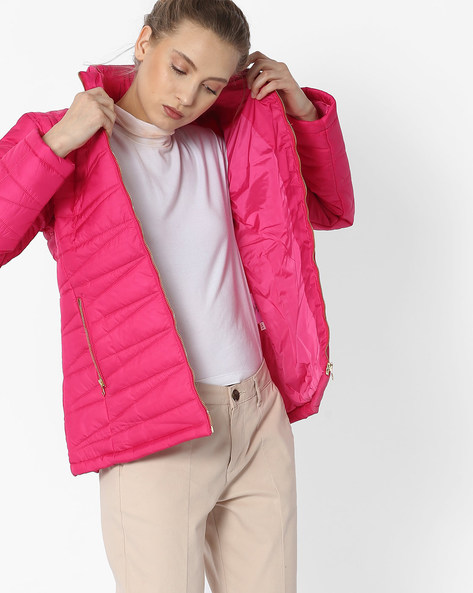 Quilted Bomber Jacket By DUKE WOMEN'S ( Pink )