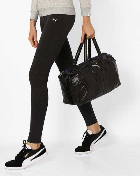 Fit At Workout Barrel Bag By Puma ( Black )
