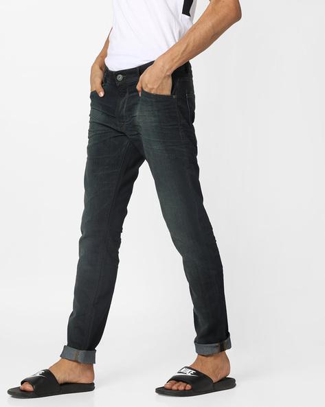 Washed Slim Fit Jeans By Jack & Jones ( Blue )