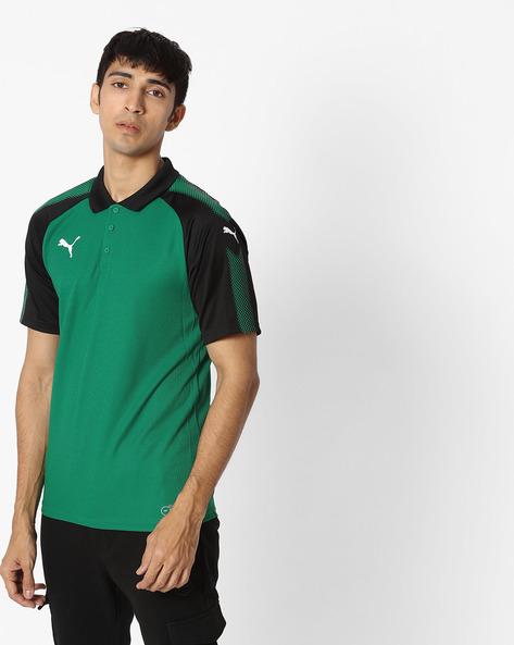 Short-Sleeve Polo T-shirt By Puma ( Green )