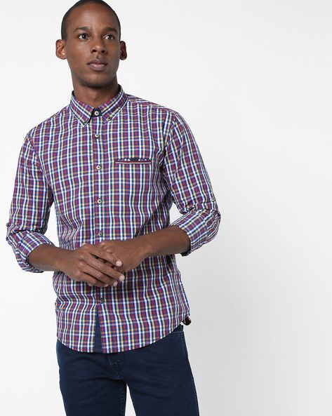 Checked Cotton Shirt By SPYKAR ( Assorted )