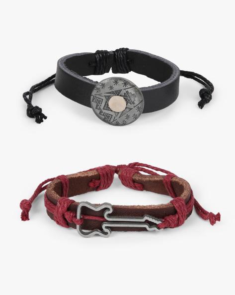 Pack Of 2 Bracelets By ALPHA MAN ( Black )