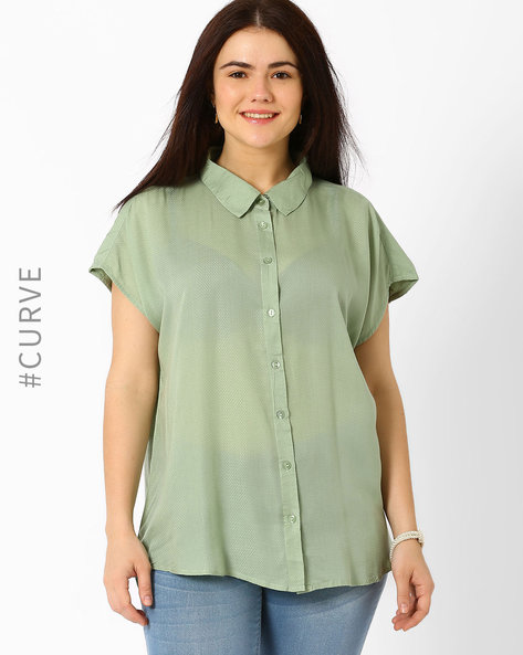 Shirt With Extended Sleeves By Oxolloxo ( Green )