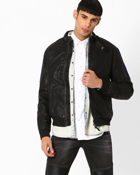 Slim Fit Biker Jacket By WRANGLER ( Black )