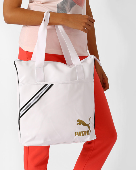 Archive Tote Bag By Puma ( Whtblkgld )