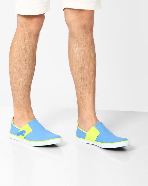Lazy Slip-On II DP Sneakers By Puma ( Blue )