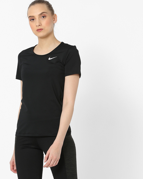 Crew-Neck T-Shirt With Ribbed Neckline By NIKE ( Multi )