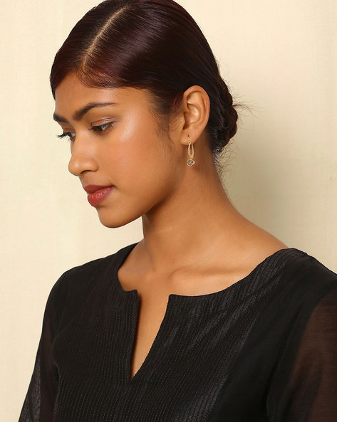 Gold-Plated Brass Hoop Earrings By Indie Picks ( Multi ) - 460045160001