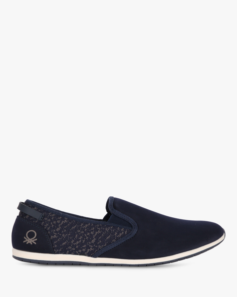 Panelled Slip-On Shoes With Mesh Quarter By UNITED COLORS OF BENETTON ( Navyblue )